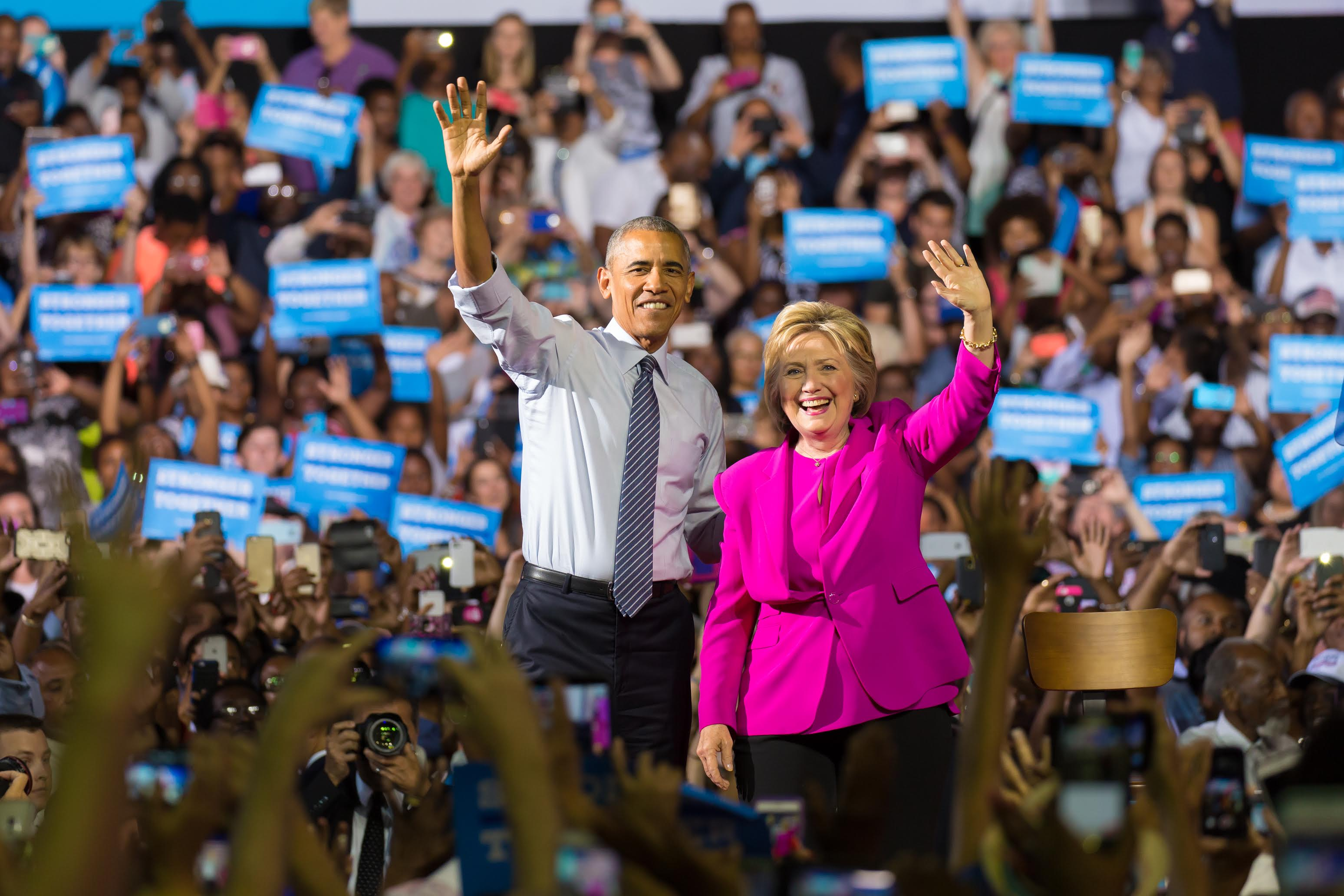 President Obama and Hillary Clinton  Campaign in Charlotte!